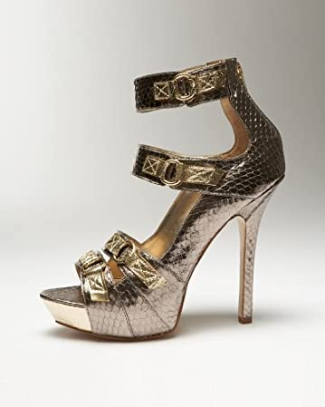 bebe Benetta Snake Buckle Sandal