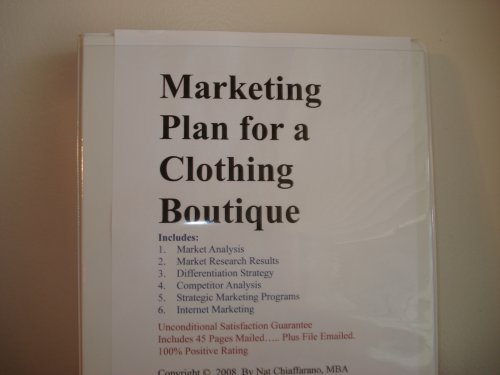 Business plan for a boutique