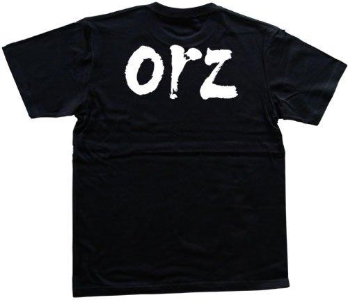 orz 書道家が書いた漢字Tシャツ サイズ:L 黒Tシャツ 背面プリント