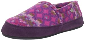 ACORN Women's Polar Moc III Slipper,Magenta Cable,Medium/6.5-7.5 M US