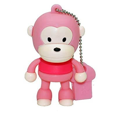4GB Baby Monkey USB 2.0 High Speed Silicon Flash Memory Drive Disk Stick Pen Support Windows and MacOS Great Gift (4GB PINK) by EASYWORLD