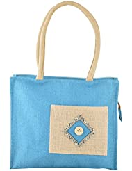 The Jute Palace Blue Reusable Shopping Bag (JP_001)