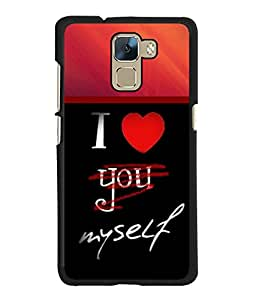 Fuson 2D Printed Love Designer back case cover for Huawei Honor 7 - D4361