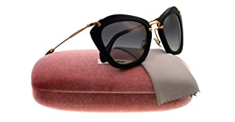 +  Miu Miu 10NS 1AB3M1 Black 10NS Cats Eyes Sunglasses Lens Category 2 Miu  Miu Clothing cab7db5b39f7