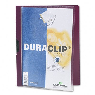 Duraclip clear front vinyl report cover, 30-sheet capacity, maroon - Buy Duraclip clear front vinyl report cover, 30-sheet capacity, maroon - Purchase Duraclip clear front vinyl report cover, 30-sheet capacity, maroon (Durable, Office Products, Categories, Office & School Supplies, Binders & Binding Systems, Report Covers)