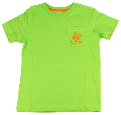 Beverly Hills Polo Club Little Boys' Lime Green V-Neck T-Shirt Size 3T