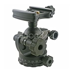Acratech Ultimate Ballhead with Quick Release, / Detent Pin, with Left Sided Rubber Main, and Pan Knobs, Supports 25 lbs.