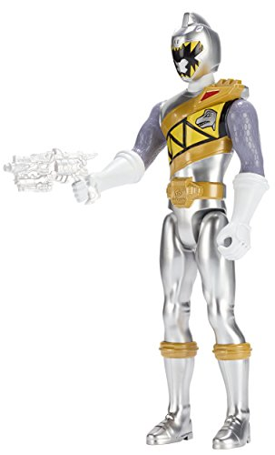 "Power Rangers Dino Super Charge - Ranger Action Figure, 12"", Silver"