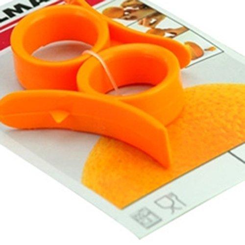 Easy Opener Lemon Orange Peeler Slicer Cutter Plastic- Random Color