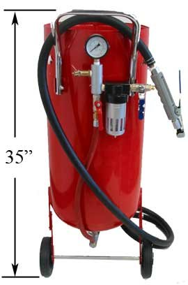 Professional 20 Gallon Sandblaster Abrasive Media Tank