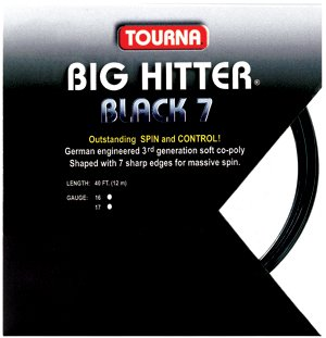 Tourna Tennis Racquet String Big Hitter Rough Black 7