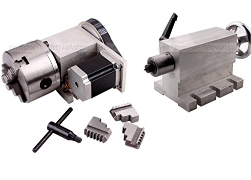 CNC-Engraving-Machine-Router-Rotational-a-4th-Axis-100mm-3-jaw-Chucktailstock