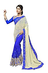 silvermoon women's georgette embroidered free size fancy saree-sm_NMNHA422_blue_free size