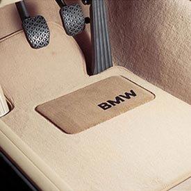 Michaela Harding Bmw Carpeted Floor Mats With Bmw Lettering Heel Pad Beige 2007 2011 328i 335i
