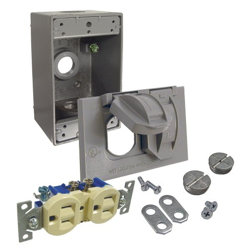 Hubbell-Bell 5839-5WRTR Duplex Receptacle Weatherproof Kit, Gray (Weather Condit compare prices)