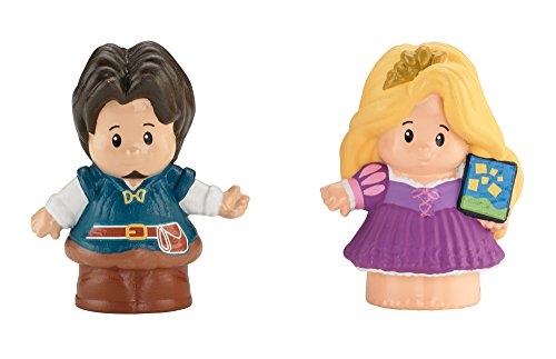 Fisher-Price Little People Disney Rapunzel and Flynn Toy, 2-Pack