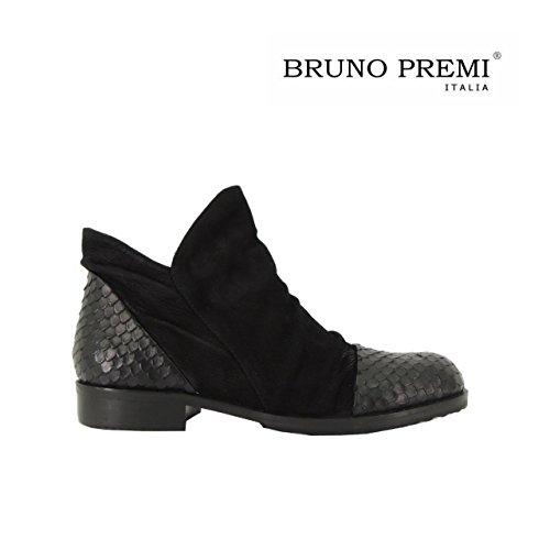 Bruno Premi I1701X scarpa donna stivaletti bassi alla caviglia made in Italy (37, NERO)