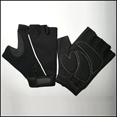 Black Amara Cycling / Gym Training Gloves Ultra Light Weight by SF