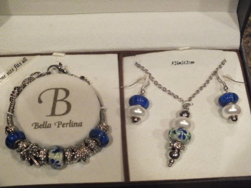 Bella Perlina - Pandora Collection Bracelet/Necklace/Ear Ring Set 46026