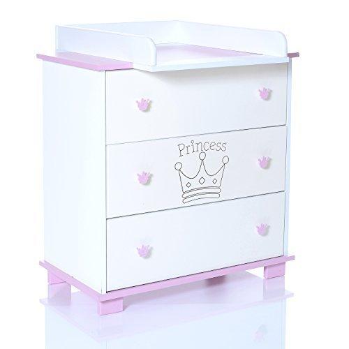 LCP Kids - Fasciatoio per bambini con 3 cassettoni - Principessa