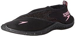 Speedo Women\'s Surfwalker 3.0 Water Shoe, Black/Pink, 8 M US