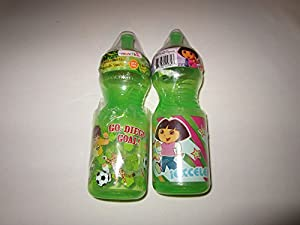 Munchkin Nickelodeon Sports Bottle - Dora the Explorer and Go Diego Go Green - SET OF 2