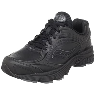 Saucony Women's ProGrid Echelon LE Walking Shoe,Black/Grey,5.5 M US