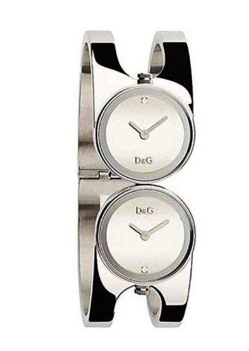 D&G Dolce&Gabbana DW0356 - Reloj analógico de mujer de cuarzo con correa de acero inoxidable plateada