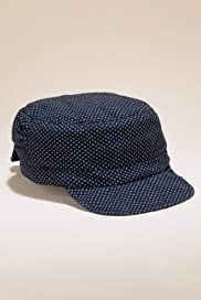 Indigo Collection Pure Cotton Baker Boy Hat [T01-4760I-S]