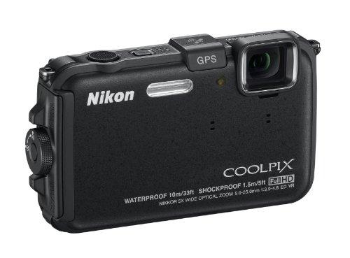 Nikon COOLPIX AW100 Waterproof Compact Digital Camera - Black (16MP, 5x Optical Zoom) 3 inch LCD
