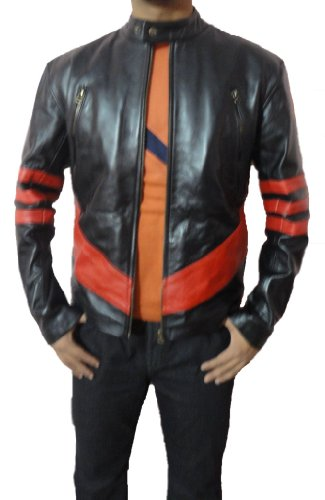 xman-wolverine-slim-fit-con-strisce-in-pu-giacca-in-pelle-black-with-red-stripes-medium