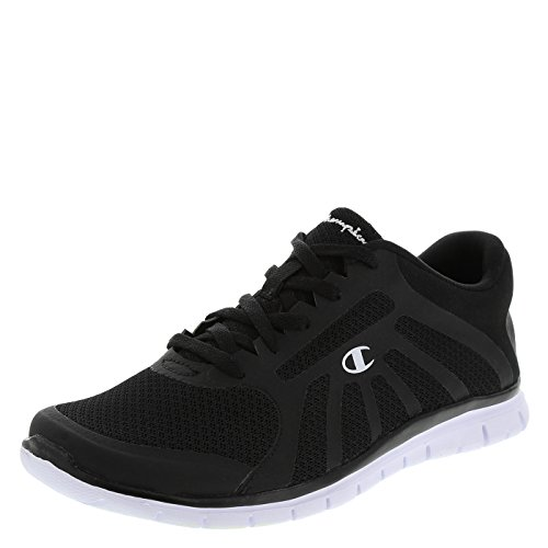 Champion Women's Black/White Gusto Runner 6 Wide (Champion Womens Footwear compare prices)