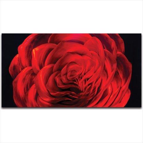 Metal Artscape MA10061 31 X 16 in. Midnight Rose Small Single-Paneled Handmade Metal Wall Art