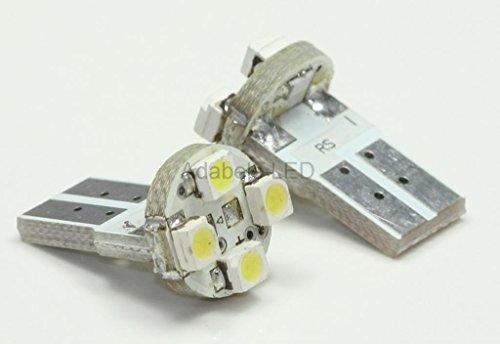 2X T10 1210 Smd 4 Led White Super Bright Car Light Bulb 194 168 2825 W5W L40 @ 147, 152, 158, 159, 161, 168, 184, 192, 193, 194 2851 Compare To Sylvania Osram Phillips