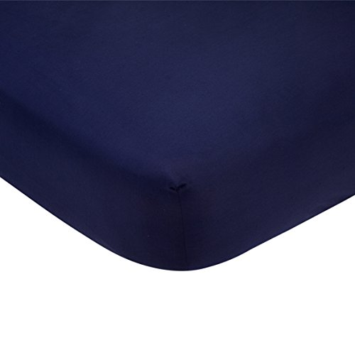 Carter's Sateen Crib Sheet, Solid Navy Blue, One Size (Crib Sheet Navy compare prices)