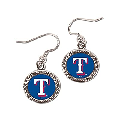 MLB Texas Rangers Round Earrings, Large, Multi