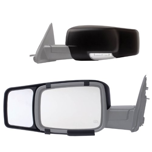 Read About Fit System 80710 Snap-on Black Towing Mirror for Dodge RAM 1500/2500/3500 - Pair