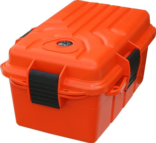 MTM Survivor Dry Box  O-Ring Seal (Orange , Large)