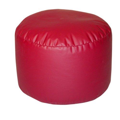 Lifestyle Bean Bag  Bigfoot Footstool, Dark Red