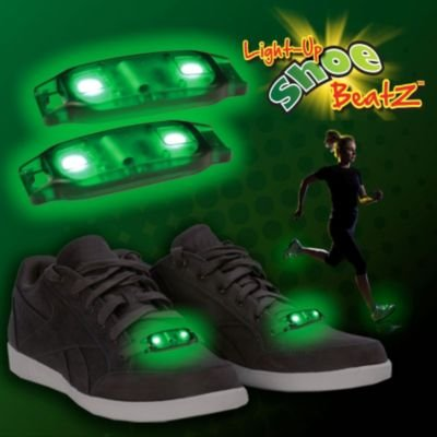 Flashing Green Led Shoe Beatz