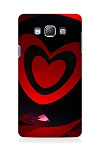 Amez designer printed 3d premium high quality back case cover for Samsung Galaxy A7 (Abstract Dark 27)