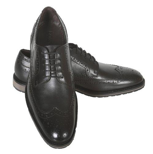 Hugo Boss Black Label Mens Nevors 50247372 Black Leather Brogue Shoes Boss2765