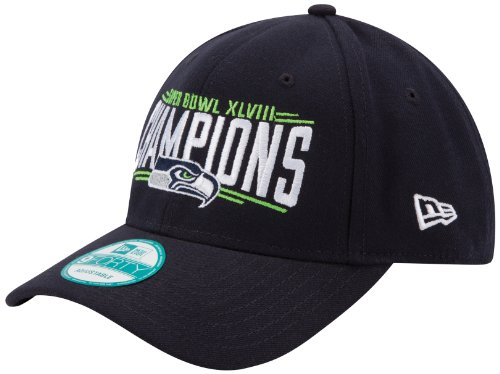 NFL Seattle Seahawks Super Bowl Champions Adjustable Cap,Navy Blue at Amazon.com