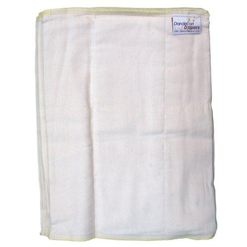 Dandelion Diapers 100% Organic Cotton DSQ Prefolds Half Dozen - Size 2