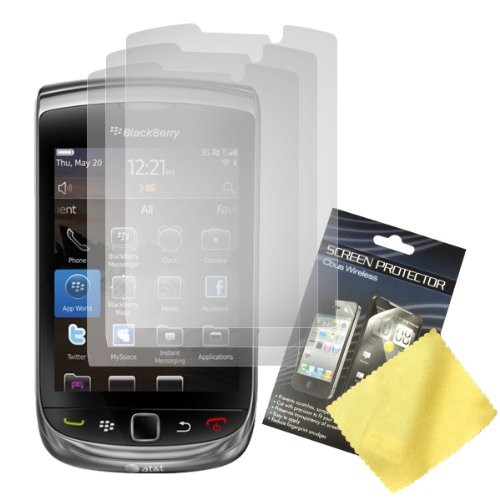 Cbus Wireless 3x Set LCD Screen Guards / Protectors for RIM BlackBerry Torch 9800 / Torch 9810 / 9810 4G / Torch 2