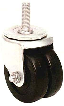 E.R. Wagner Stem Caster, Swivel, Dual Wheel, Soft Rubber Wheel