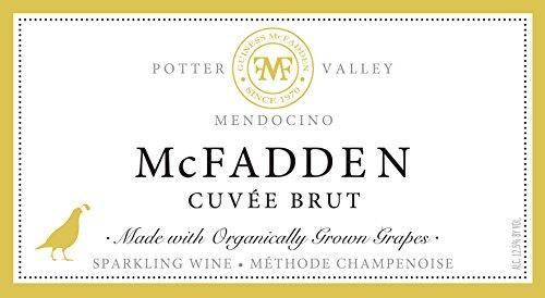 2010 Mcfadden Reserve Sparkling Cuvée Brut Mendocino County 750 Ml