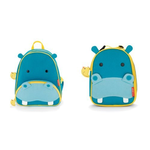 Skip Hop Zoo Backpack and Lunchie Set, Hippo - 1