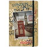 Herlitz Notizbuch mit Gummizug zum Verschließen, A6, City Trips London, kariert, 96 Blatt