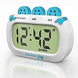 Digital Kitchen Timer Kitchen Joy with Clock and Loud Alarm